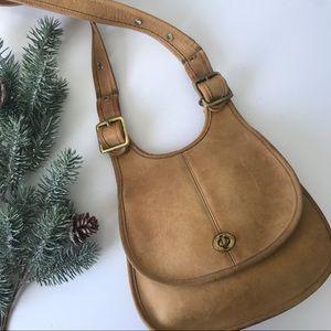 Vintage Coach Tan Saddle Bag Purse